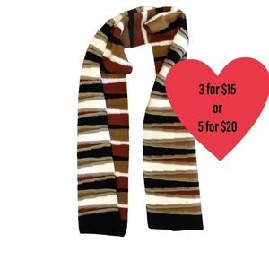 Striped fall tones scarf